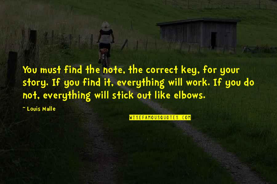 Stick By You Quotes By Louis Malle: You must find the note, the correct key,