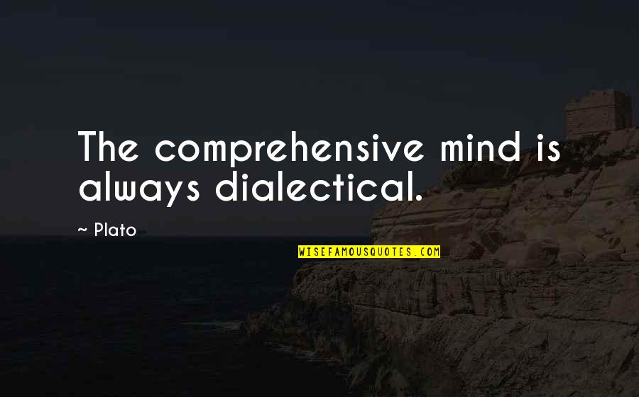 Stickboy Quotes By Plato: The comprehensive mind is always dialectical.
