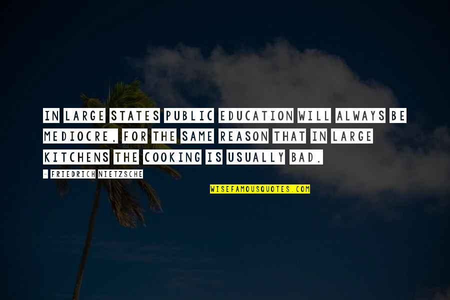 Sticking Together Through Thick And Thin Quotes By Friedrich Nietzsche: In large states public education will always be