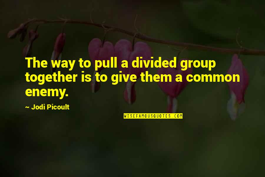 Sticking Your Nose In Other People's Business Quotes By Jodi Picoult: The way to pull a divided group together