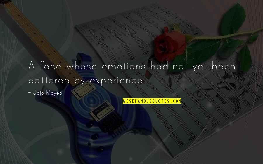 Still Smiling Quotes By Jojo Moyes: A face whose emotions had not yet been