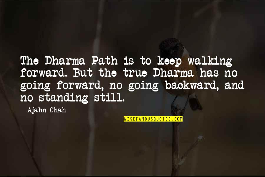 Still Standing Quotes By Ajahn Chah: The Dharma Path is to keep walking forward.