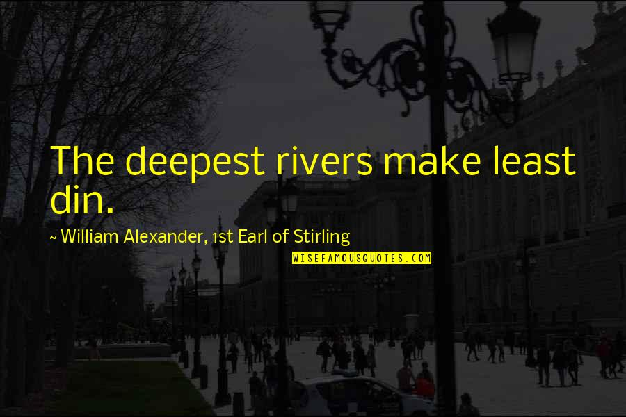 Stirling Quotes By William Alexander, 1st Earl Of Stirling: The deepest rivers make least din.
