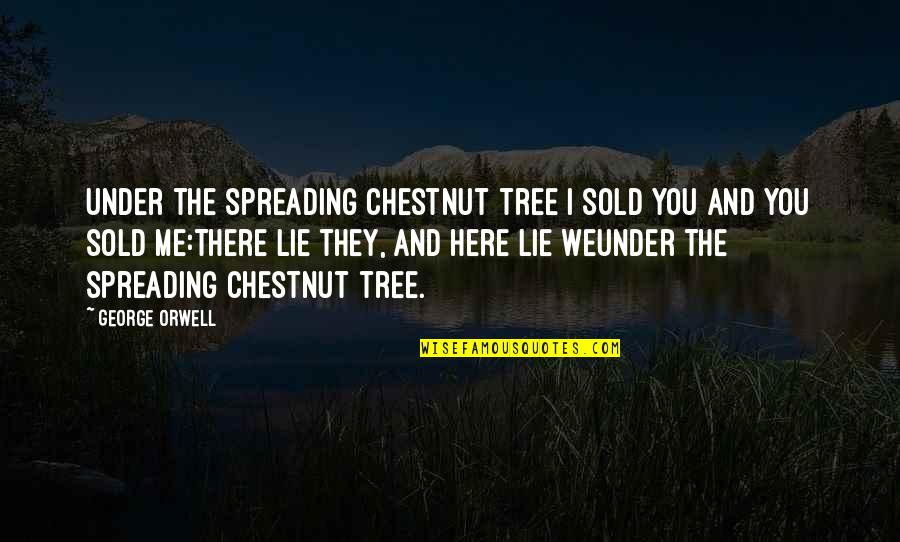 Stock Charts Quotes By George Orwell: Under the spreading chestnut tree I sold you