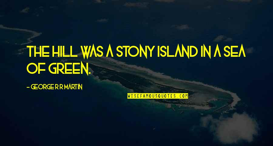 Stony Quotes By George R R Martin: The hill was a stony island in a