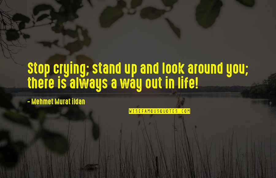 Stop And Look Around Quotes By Mehmet Murat Ildan: Stop crying; stand up and look around you;