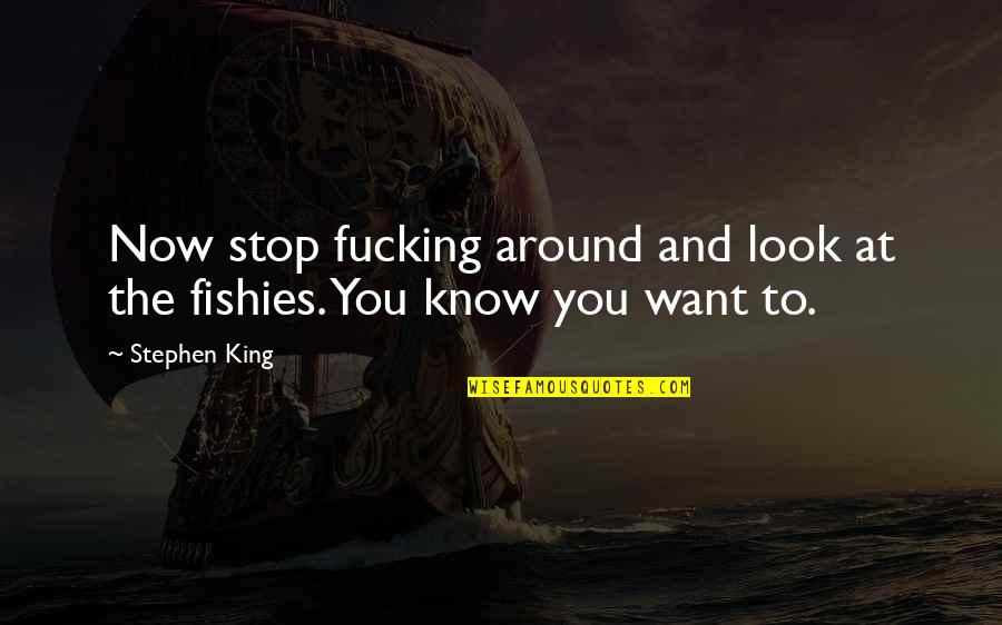 Stop And Look Around Quotes By Stephen King: Now stop fucking around and look at the