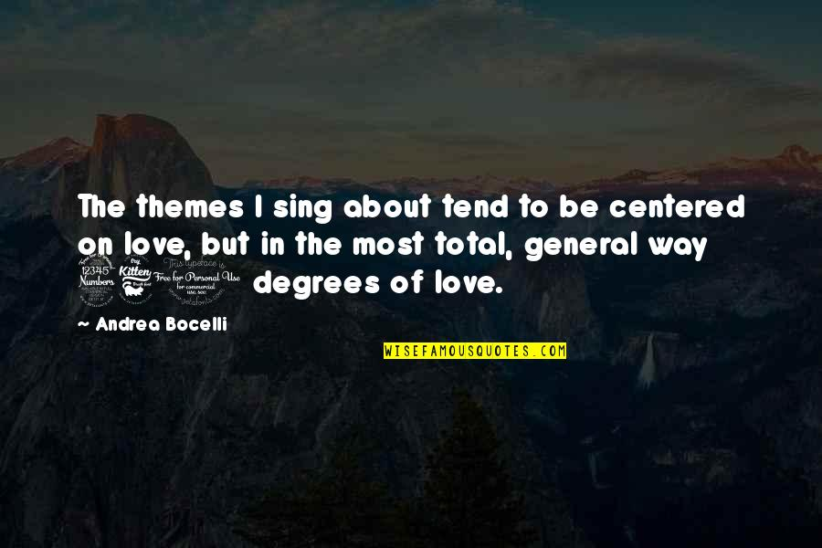 Stop Falling In Love Quotes By Andrea Bocelli: The themes I sing about tend to be