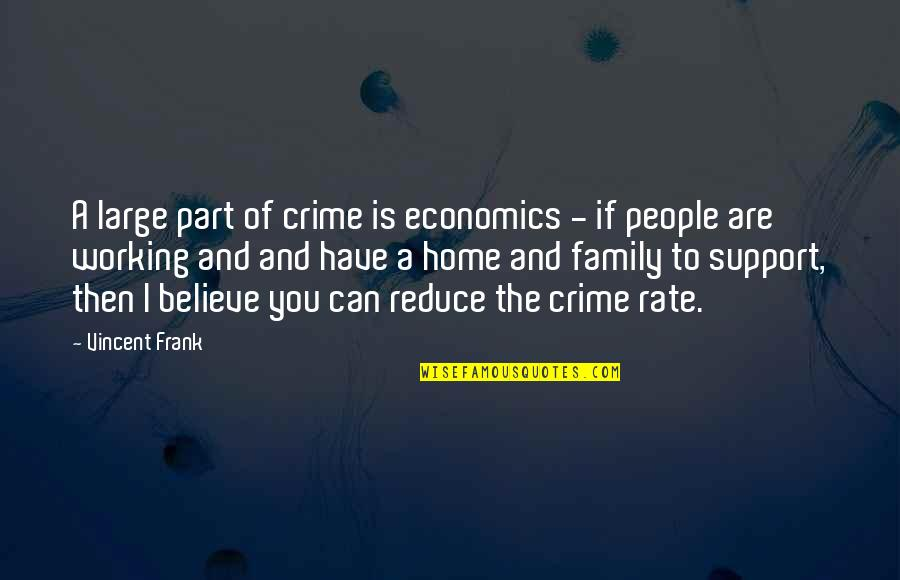 Stop Feeling Sorry For Yourself And You Will Be Happy Quotes By Vincent Frank: A large part of crime is economics -