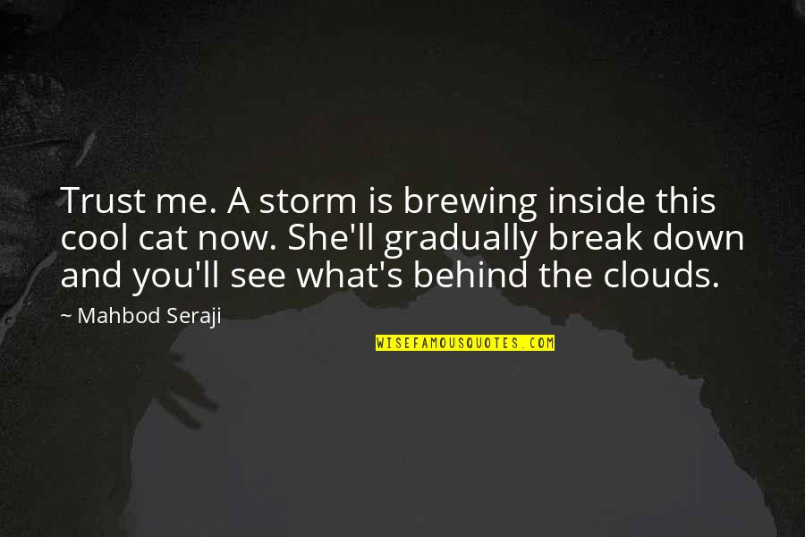 Storm Clouds Quotes By Mahbod Seraji: Trust me. A storm is brewing inside this