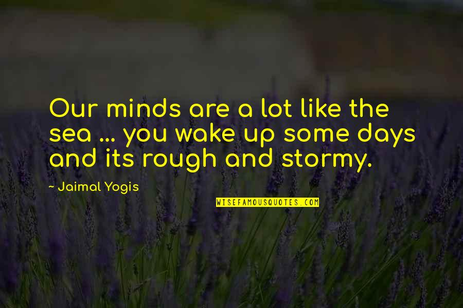 Stormy's Quotes By Jaimal Yogis: Our minds are a lot like the sea