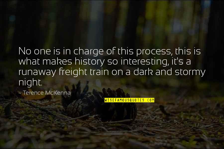 Stormy's Quotes By Terence McKenna: No one is in charge of this process,
