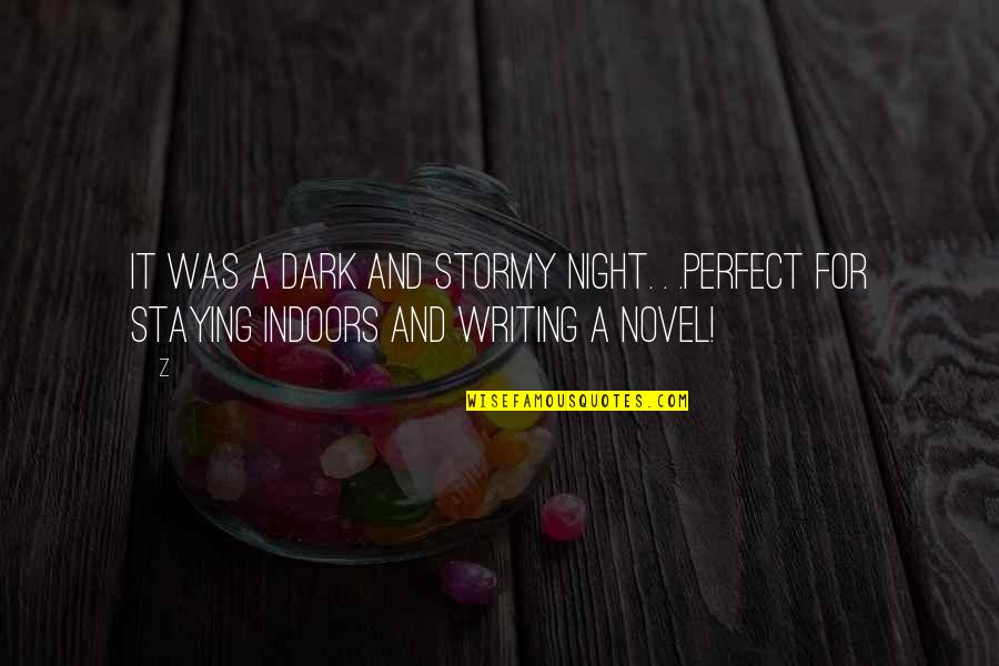 Stormy's Quotes By Z: It was a dark and stormy night. .