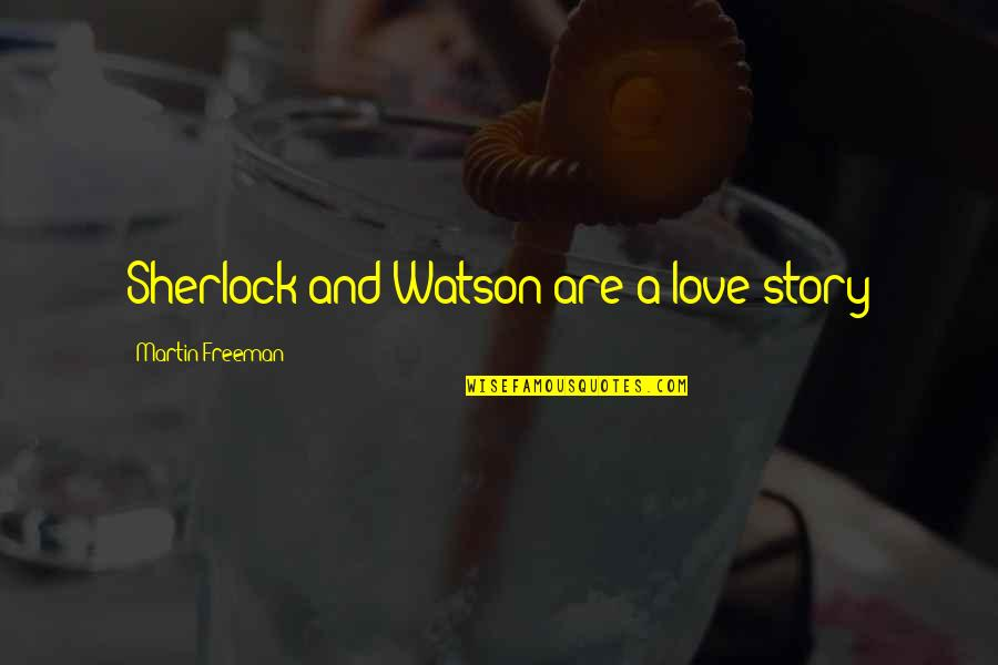 Story Love Quotes By Martin Freeman: Sherlock and Watson are a love story