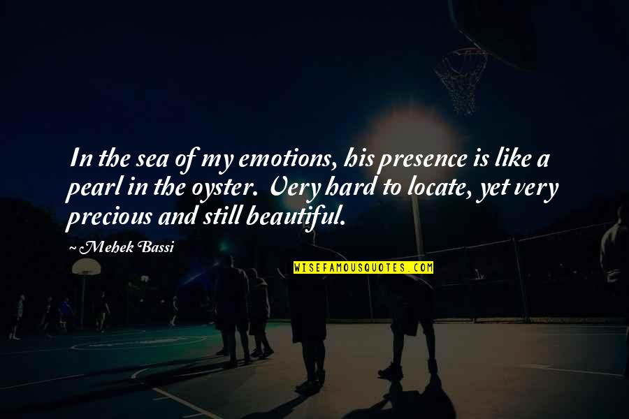 Story Love Quotes By Mehek Bassi: In the sea of my emotions, his presence