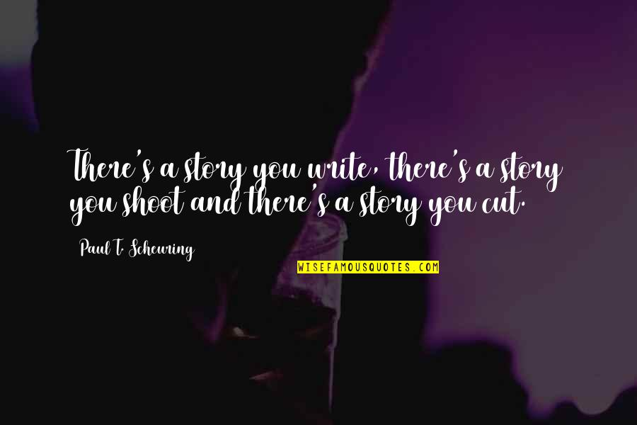 Story So Far Quotes By Paul T. Scheuring: There's a story you write, there's a story