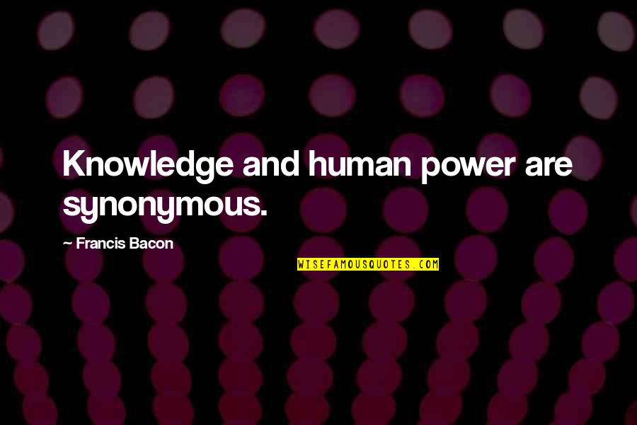 Storybook Album Quotes By Francis Bacon: Knowledge and human power are synonymous.