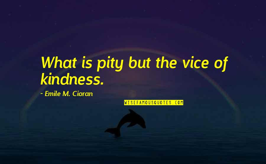 Straightforward Nature Quotes By Emile M. Cioran: What is pity but the vice of kindness.