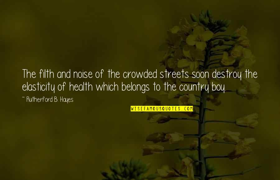 Strained Father Daughter Relationship Quotes By Rutherford B. Hayes: The filth and noise of the crowded streets
