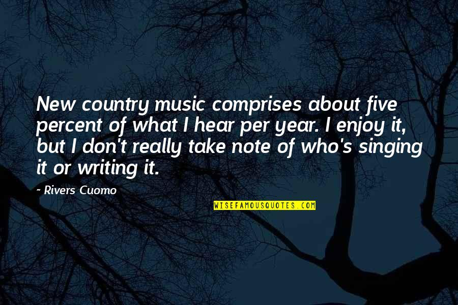 Strange But Meaningful Quotes By Rivers Cuomo: New country music comprises about five percent of