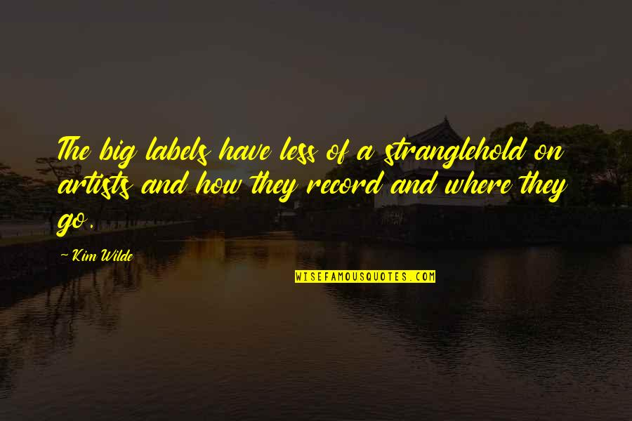 Stranglehold Quotes By Kim Wilde: The big labels have less of a stranglehold