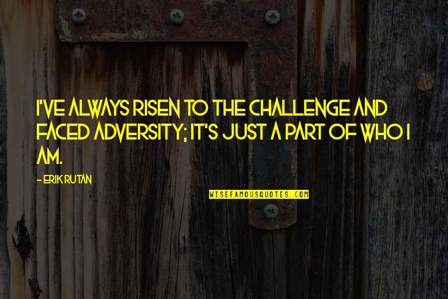 Strategize Quotes By Erik Rutan: I've always risen to the challenge and faced