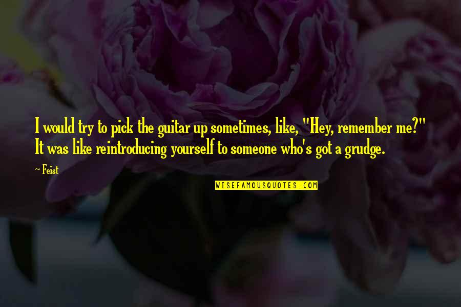 Strategize Quotes By Feist: I would try to pick the guitar up