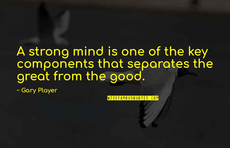 Strategize Quotes By Gary Player: A strong mind is one of the key