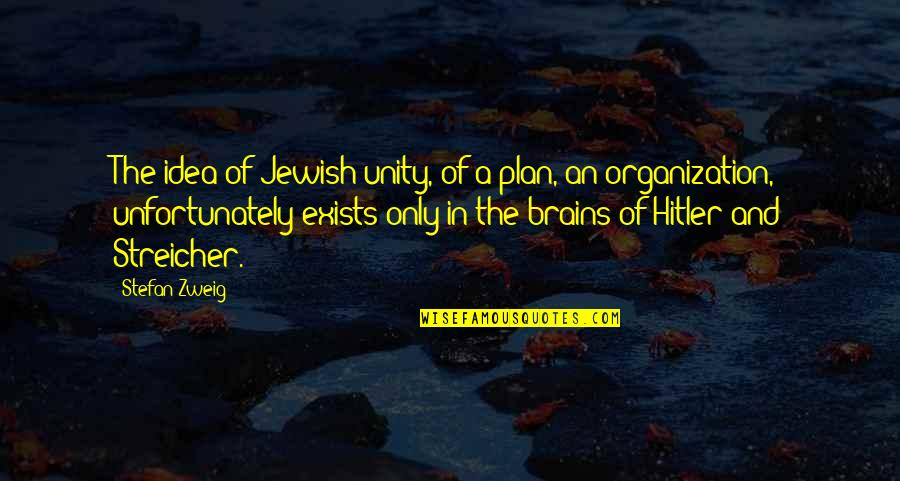 Streicher Quotes By Stefan Zweig: The idea of Jewish unity, of a plan,