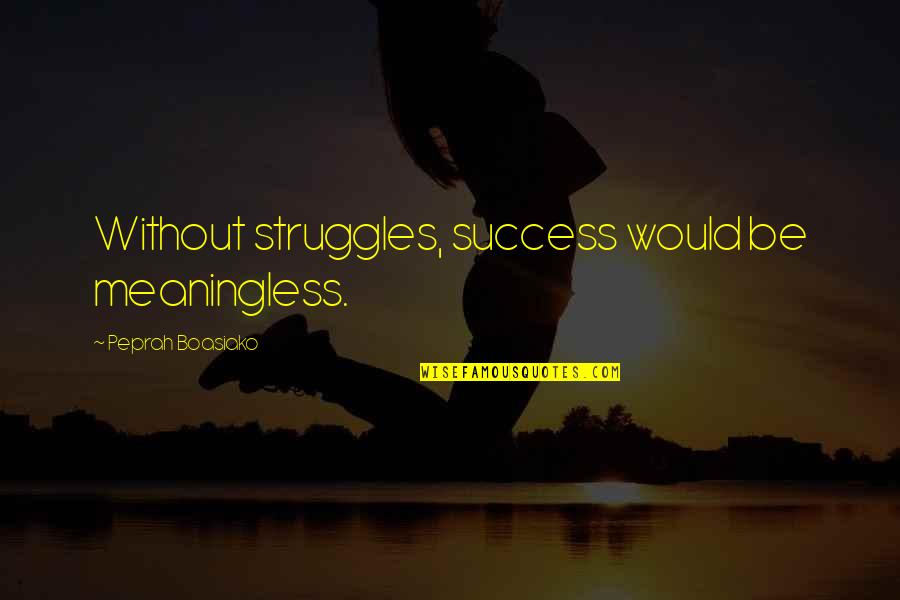 Strength Courage And Adversity Quotes By Peprah Boasiako: Without struggles, success would be meaningless.