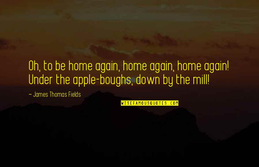 Strength In Hard Times God Quotes By James Thomas Fields: Oh, to be home again, home again, home