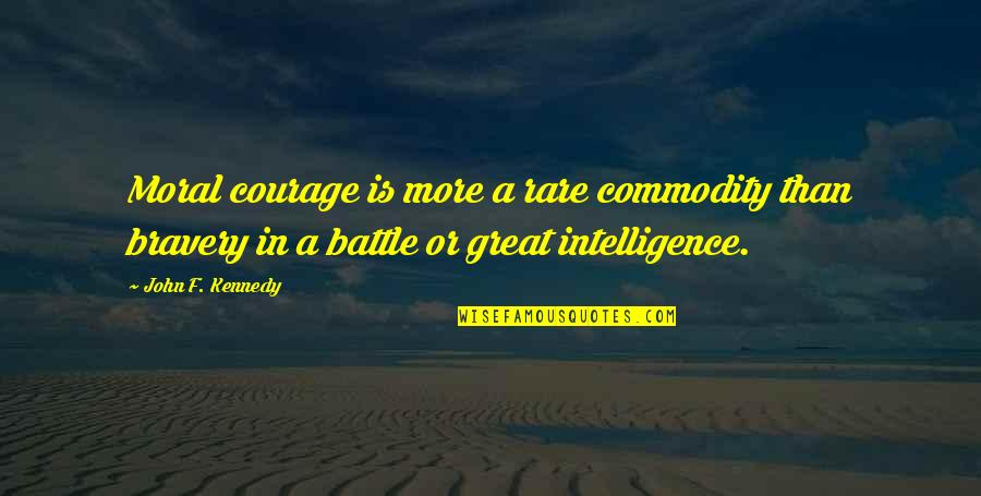 Strength In Hard Times God Quotes By John F. Kennedy: Moral courage is more a rare commodity than