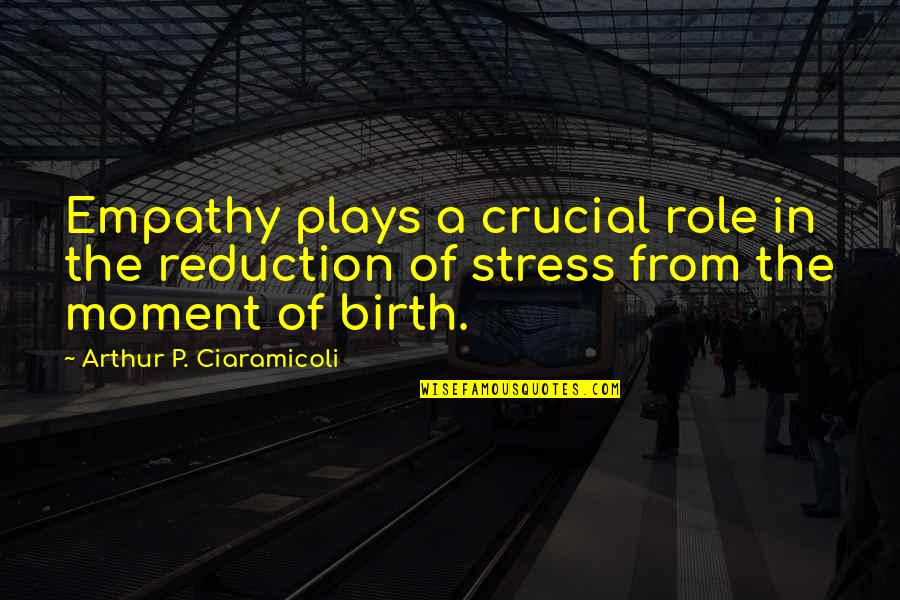 Stress Management Quotes By Arthur P. Ciaramicoli: Empathy plays a crucial role in the reduction