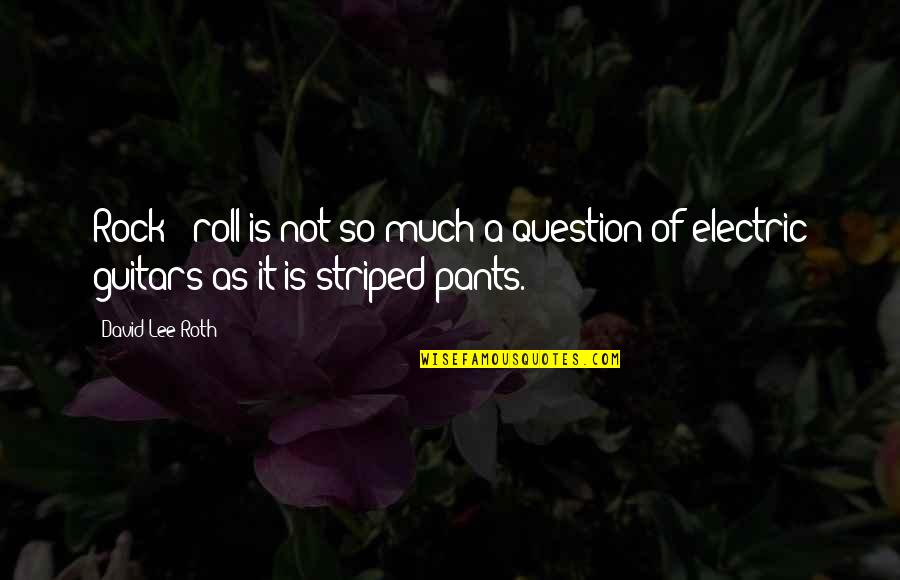 Striped Quotes By David Lee Roth: Rock & roll is not so much a