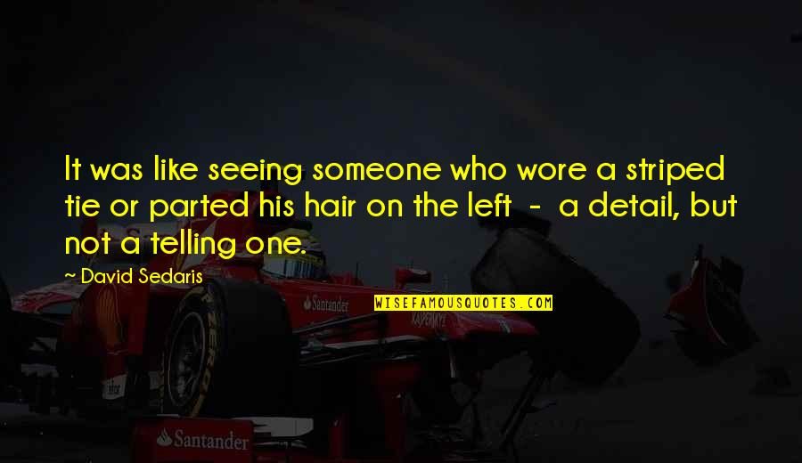 Striped Quotes By David Sedaris: It was like seeing someone who wore a