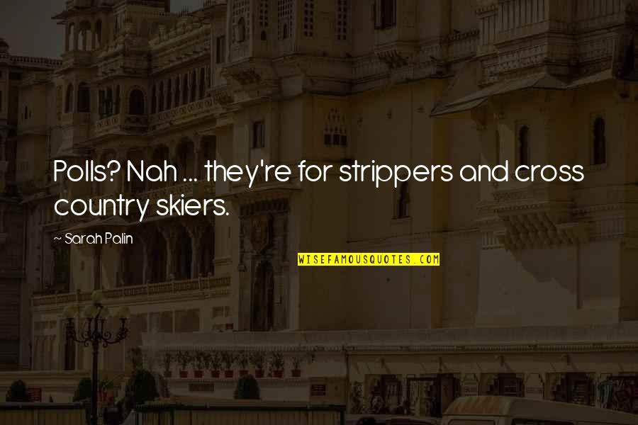 Strippers Quotes By Sarah Palin: Polls? Nah ... they're for strippers and cross
