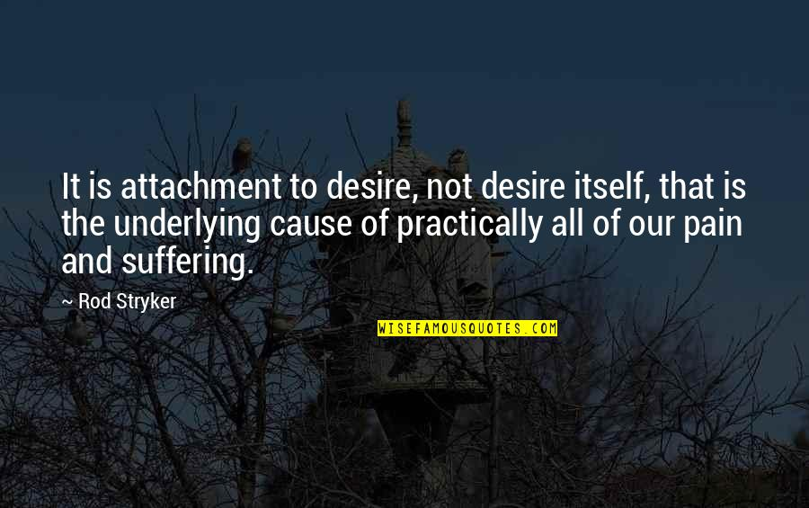 Stryker Quotes By Rod Stryker: It is attachment to desire, not desire itself,