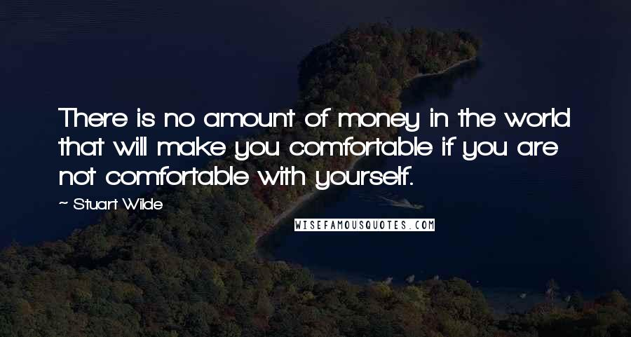 Stuart Wilde quotes: There is no amount of money in the world that will make you comfortable if you are not comfortable with yourself.