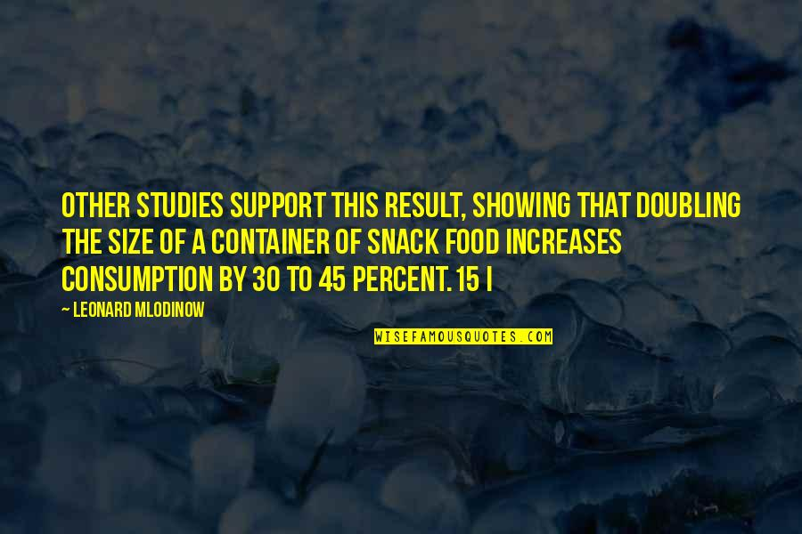 Studies Quotes By Leonard Mlodinow: Other studies support this result, showing that doubling