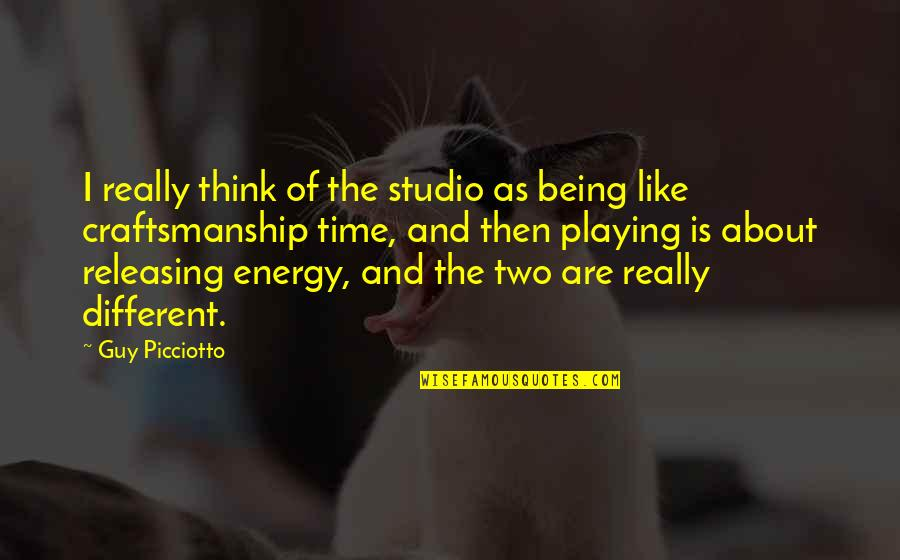 Studio C Quotes By Guy Picciotto: I really think of the studio as being