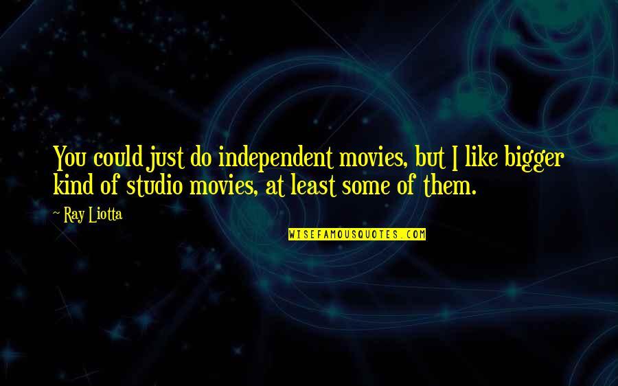 Studio C Quotes By Ray Liotta: You could just do independent movies, but I