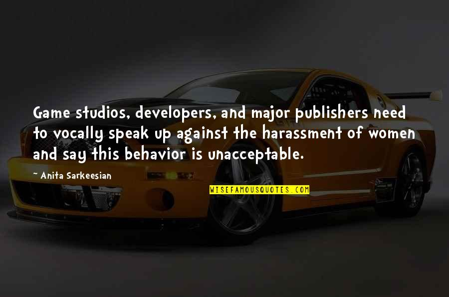 Studios Quotes By Anita Sarkeesian: Game studios, developers, and major publishers need to