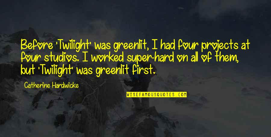 Studios Quotes By Catherine Hardwicke: Before 'Twilight' was greenlit, I had four projects