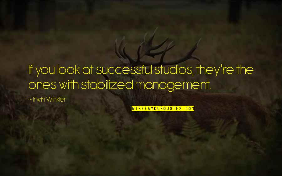 Studios Quotes By Irwin Winkler: If you look at successful studios, they're the
