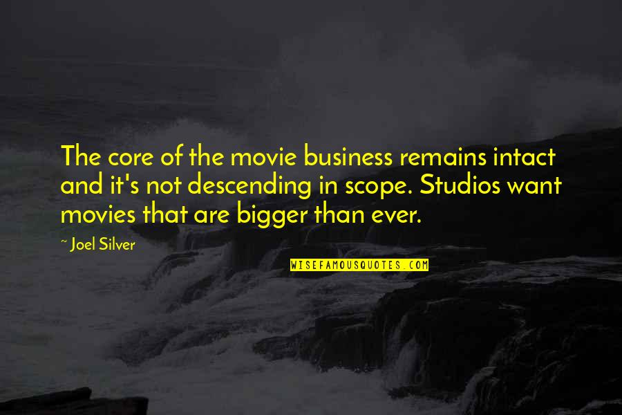 Studios Quotes By Joel Silver: The core of the movie business remains intact