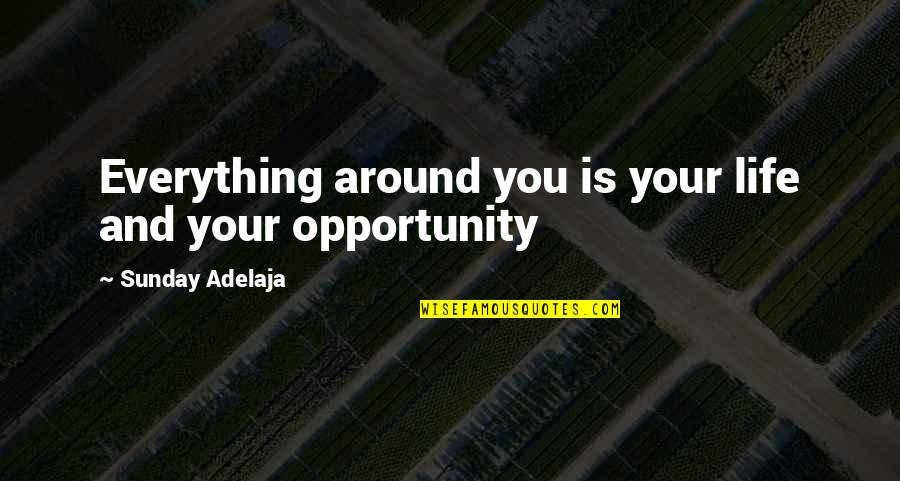 Stupid Cliches Quotes By Sunday Adelaja: Everything around you is your life and your