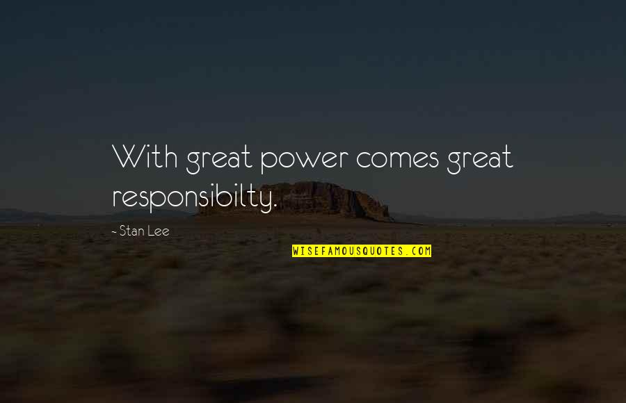 Subaru Price Quotes By Stan Lee: With great power comes great responsibilty.