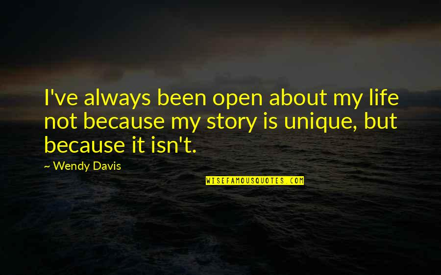 Sublime Text 2 Double Quotes By Wendy Davis: I've always been open about my life not