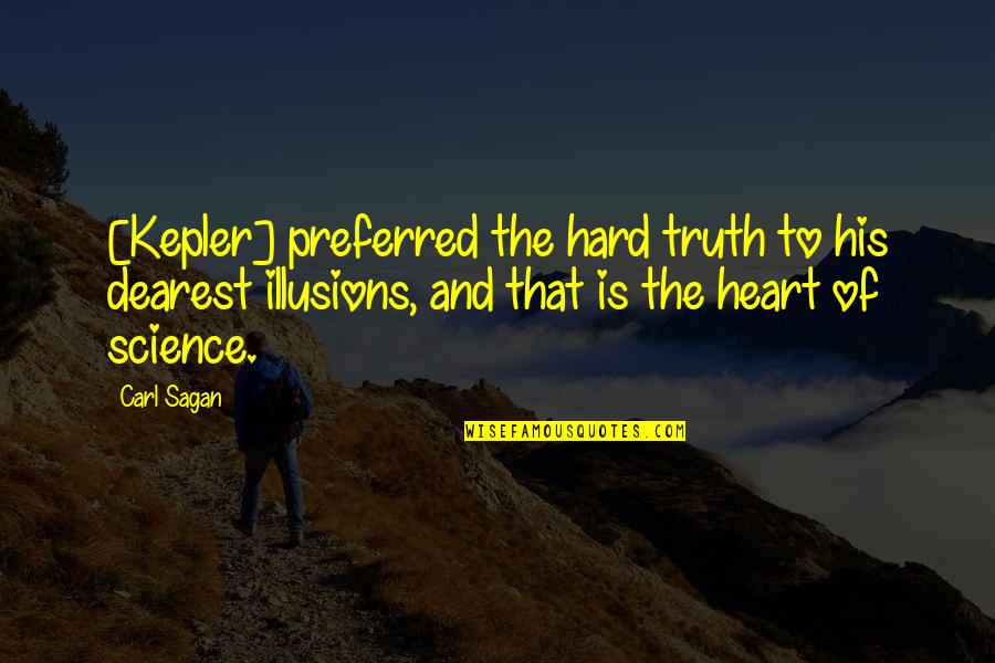 Subliminal Fake Friends Quotes By Carl Sagan: [Kepler] preferred the hard truth to his dearest