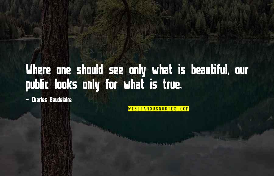 Subpopulation Quotes By Charles Baudelaire: Where one should see only what is beautiful,